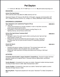 how to write a high school resume the small town top college blog an example of a powerful high school resume