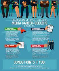 resume must haves for social media career seekers bolt digital 4 resume must haves for social media career seekers 1