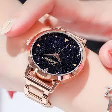 <b>Women Dress Watches</b> Rose Gold <b>Stainless</b> Steel Lvpai Brand ...