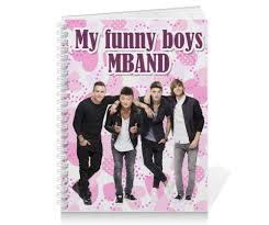 <b>Тетрадь на пружине</b> My funny boys MBAND #1304570 от fanzona