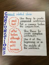 images about Writing Super Sentences  on Pinterest Conjunctions Anchor Chart  picture only