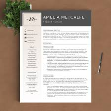 creative resume template the amelia landed design solutions creative resume template the amelia perfect resume templates 1