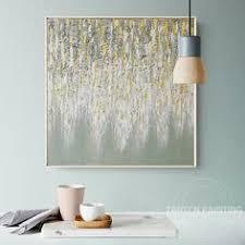 <b>Modern</b> abstract <b>acrylic paintings</b> gold <b>feather</b> canvas black ...