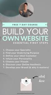 17 best ideas about own website build your own 7 day email course build your own website essential first steps
