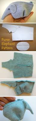 Purse <b>Elephant Tutorial</b> | Diy <b>elephant</b> purse, Easy sewing projects ...