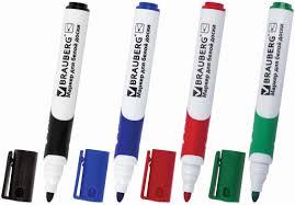 Набор <b>маркеров</b> для доски <b>Brauberg Soft</b>, 151252, 4 шт — купить ...