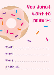 printable invitations emmy gabbie paperstyles printable pink donut party invitation