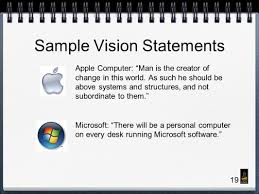 roads leading to excellence mass communication ppt 19 sample vision statements apple computer man is the creator of change in this world