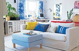 the combination of blue and white for living room decoration ideas plushemisphere blue white living room