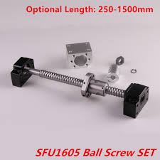 Ballscrew <b>Set SFU1605 Rolled Ball</b> Screw End Machined 250 1500 ...