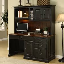 cool floor lamp and black bush desk hutch office