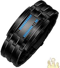IEason,Luxury Men's Stainless Steel Date <b>Digital LED Bracelet</b> Sport