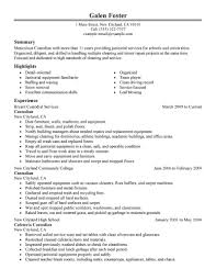 resume for a cleaning job resume maid service