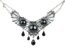 Victorian Gothic <b>Spider</b> Cobweb <b>Lace Choker</b> Necklace <b>Halloween</b> ...
