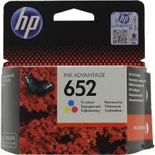 <b>Картридж HP</b> F6V24AE (№<b>652</b>) (трехцветный) Голубой (Cyan) + ...