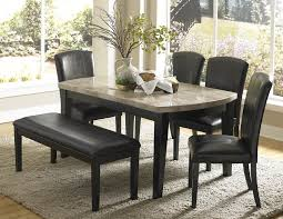 table top dining loegz room homelegance cristo marble top dining table in black agatha dining tabl