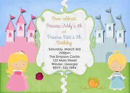 princess invitation or tinkerbell princess twins joint 128270zoom