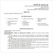 security operations manager resume operation manager resume