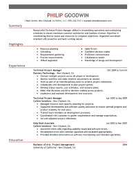 best technical project manager resume example livecareer create my resume