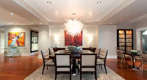 Dining Room Table Size For 10 Dining Room Downlight Wooden Flooring Modern Abstract Painting