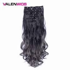 <b>Valen</b> Wavy Synthetic Hair <b>Clip in</b> Hair Extensions 7Pieces/set 22 ...