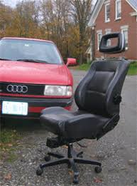 you wont find tony paganis office chair at your local office supply store no tonys entry to our old faithful contest is a custom made chair made by car seats office chairs