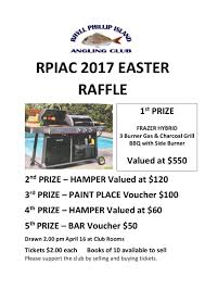 easter raffle rhyll phillip island angling club easter raffle flyer