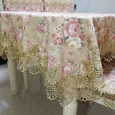 Proud Rose Pastoral <b>Lace Tablecloth</b> Table Cover <b>European Round</b> ...
