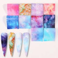 <b>16Pcs</b>/<b>Set</b> Holographicss <b>Nail Foils</b> Rose Floral Marble Nail Art ...