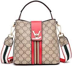 Women's <b>Fashion PU</b> Leather V Handbags Tote <b>Shoulder</b> Purse ...