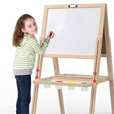 Easel for <b>Kids</b>, Doodle Board <b>Children's Wooden</b> Magnetic Drawing ...