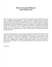 artist personal statement sample related keywords suggestions photographer artist statement best template collection