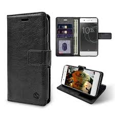 iShock Sony Xperia XA1 <b>PU Leather Wallet</b> Case - Black - MobileBitz