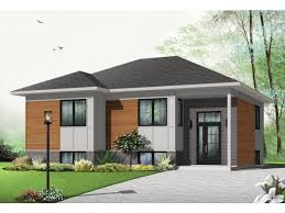 Contemporary Modern House Plan   Square Feet and    Front