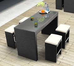 palermo outdoor wicker dining chairs set