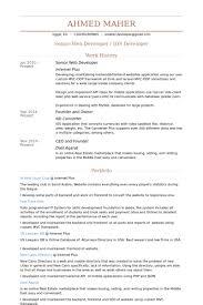 database developer resume sample   riixa do you eat the resume last senior web developer resume samples visualcv database