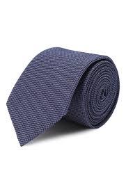 Мужской фиолетовый <b>шелковый галстук HUGO</b> — купить за 4800 ...