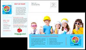 child care postcard template sample child care owner child care business cards child care folders child care marketing preschool marketing