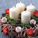 Рождественский венок для свечи