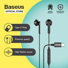 <b>Baseus Encok Wire</b> Earphone <b>C16</b> - Black | Shopee Philippines