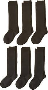 Jefferies Socks Big Girls' Seamless <b>Cotton Knee High</b> (Pack of 6 ...
