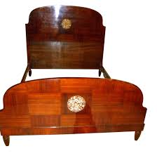 beautiful mahogany art deco bed with marquetry from the 1920s art deco mahogany framed office chair