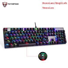 <b>MOTOSPEED</b> CK104 русская английская механическая ...
