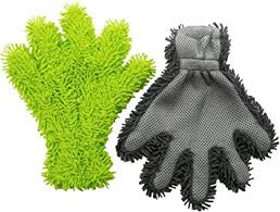 ZOLLNER soft coral <b>chenille car wash gloves</b> set of 2: Amazon.co.uk ...