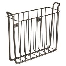 mount wallmount magazine rack interdesign classico wall mount newspaper and magazine rack for bathro
