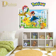 Pokemon Bedroom Decor Compare Prices On Pokemon Wall Poster Online Shopping Buy Low
