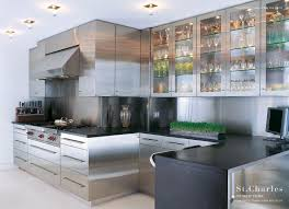 st charles kitchen cabinets:  kitchen stainless steel floating shelves kitchen fence baby midcentury medium roofing landscape designers systems