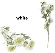 1PCS Artificial Ranunculus Flowers Rose Bush Silk ... - Amazon.com