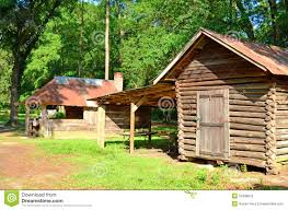 oak log cabins: old log cabin sheds shack old log cabin sheds shack couple rustic large oak trees pine trees background