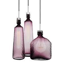 modern purple blown glass bottle pendant lighting 12113 blown glass bottle pendant